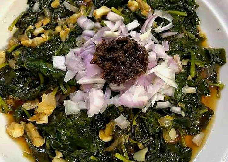 Easiest Way to Make Delicious Steamed Alugbati / Spinach