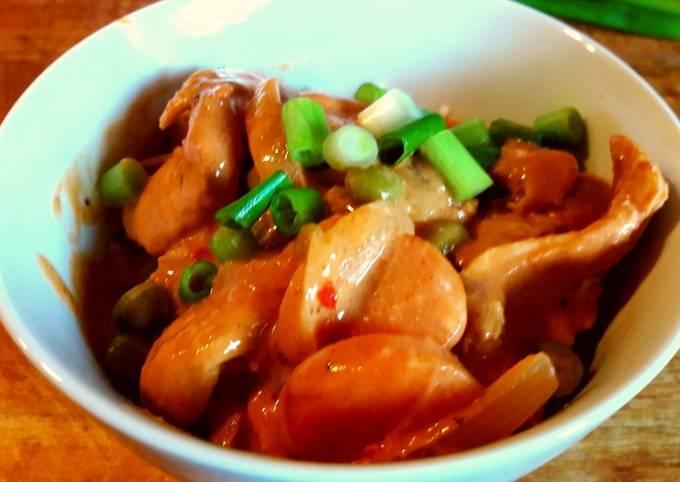 Creamy Cajun Chicken w/rice my style 😁