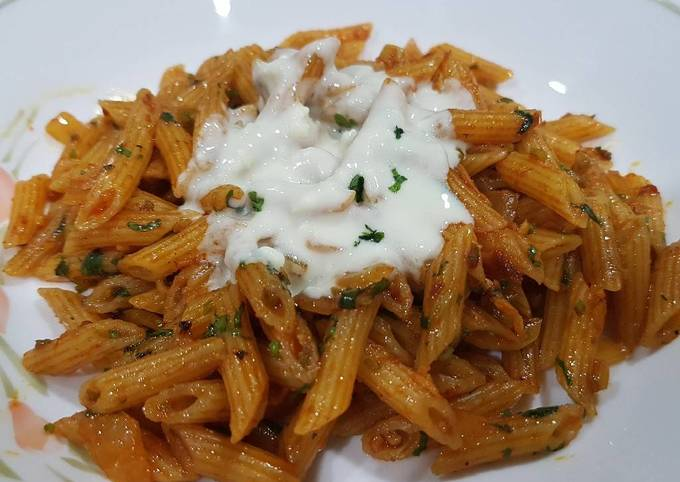 Mom's Fried Curry Pasta