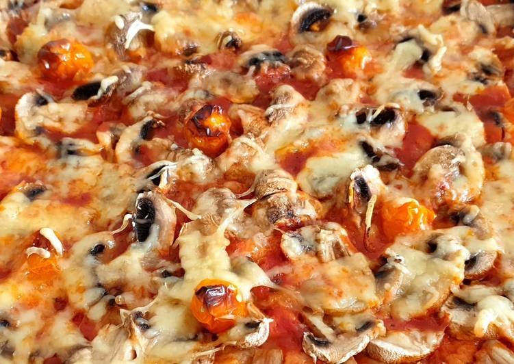 Comment Préparer Les Pizza aux champignons #cuisinedumonde