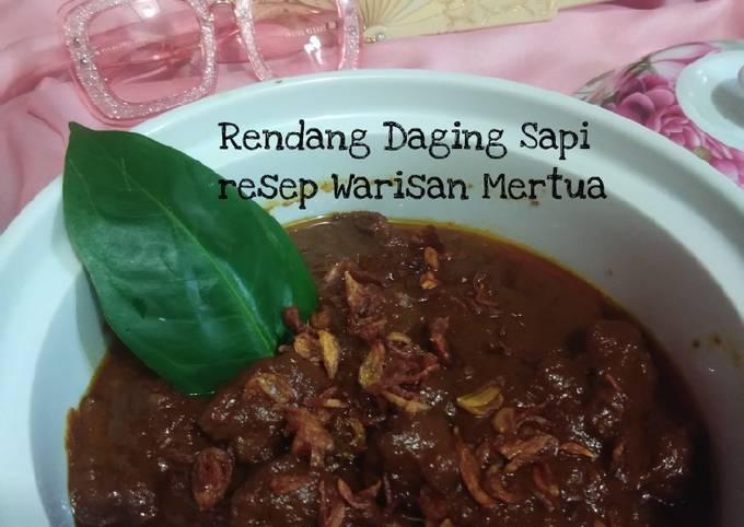 Rendang Daging Sapi resep warisan mama mertua 😘💞