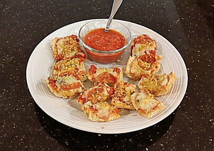 French Bread Pizza Crunch Bites