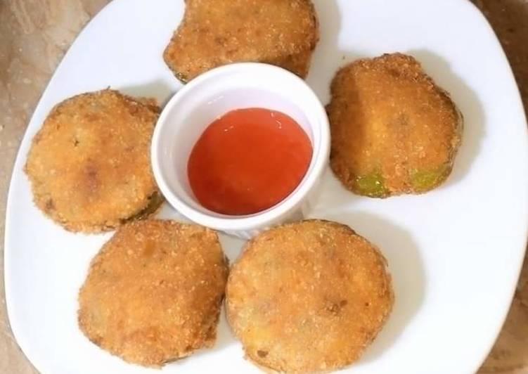 Capsicum potato patties
