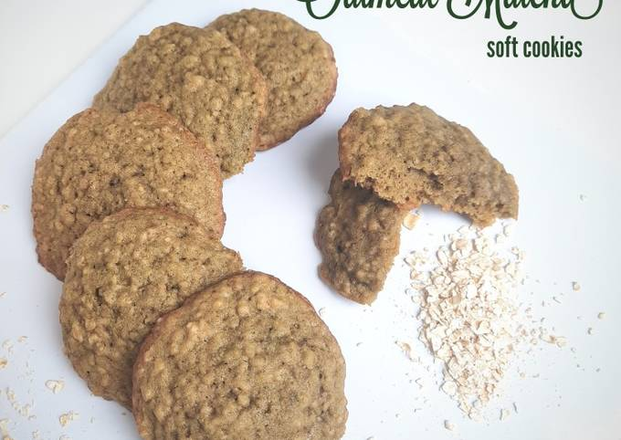 Matcha Oatmeal Soft Cookies
