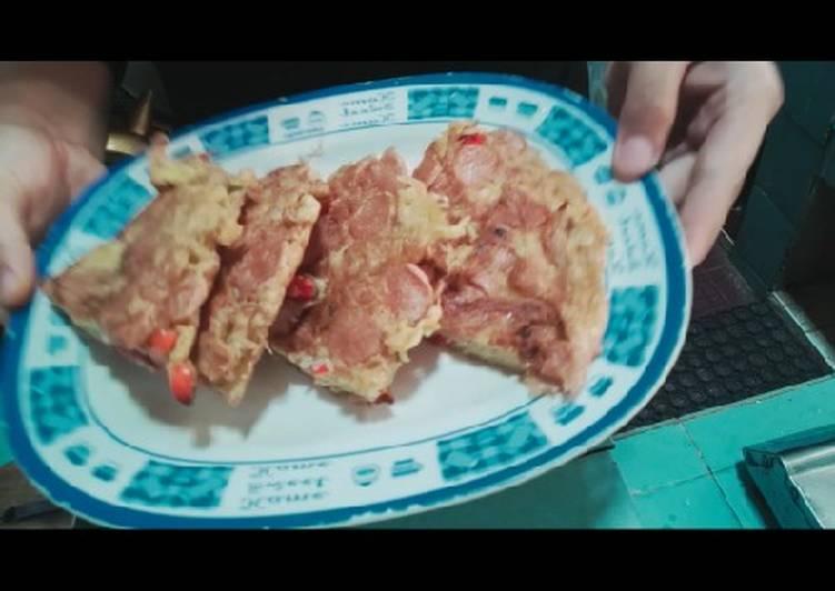Omelet telur dan indomie bawang