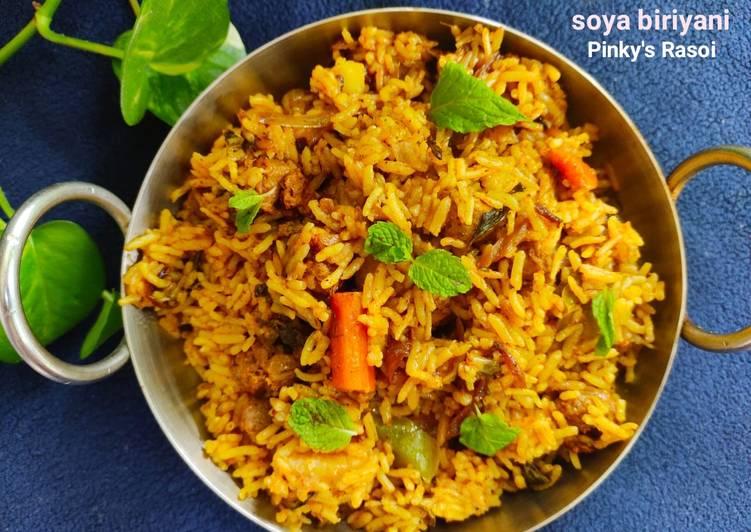 Recipe of Favorite Soya biriyani