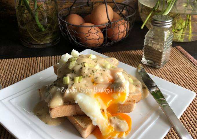 Telur Carak Dengan Sos Cendawan