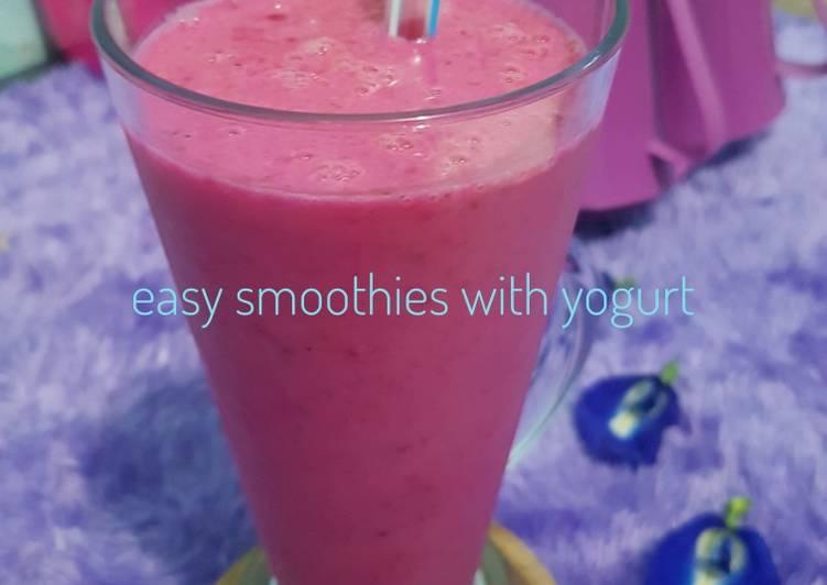 Easy smoothies with yogurt