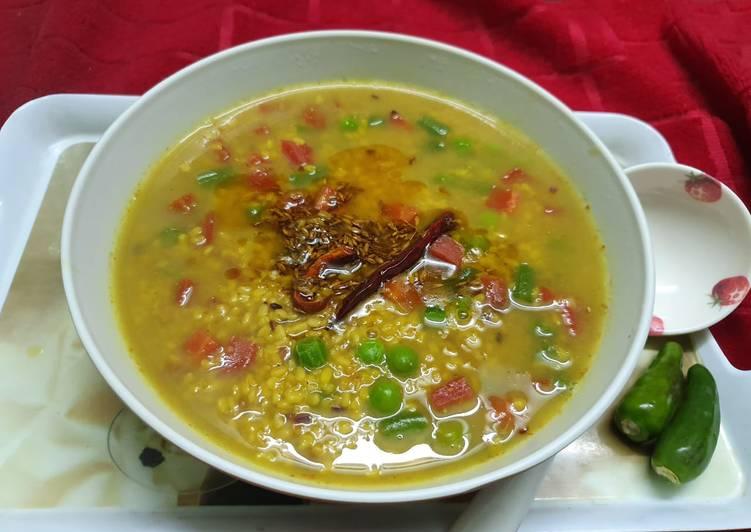 Mixed veg Moong Dal
