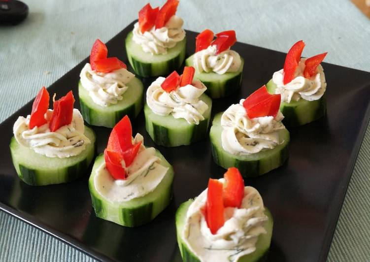 Step-by-Step Guide to Prepare Super Quick Homemade Cucumber bites