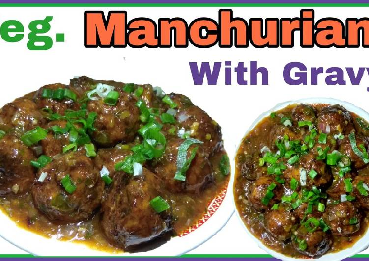 Manchurian recipe with Gravy
