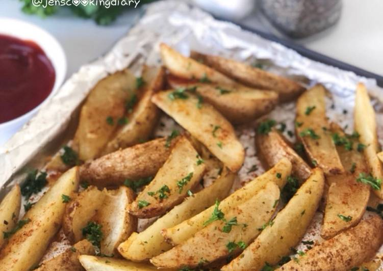 Simple Way to  Crispy Baked Potato Wedges