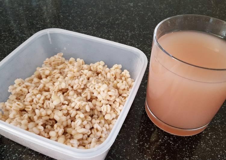 Recipe of Favorite Organic pearl barley water