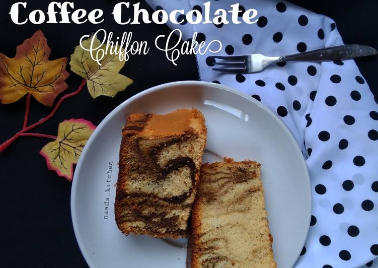 Coffee Chocolate chiffon cake