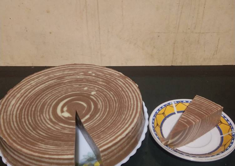 Puding Zebra Roti Tawar