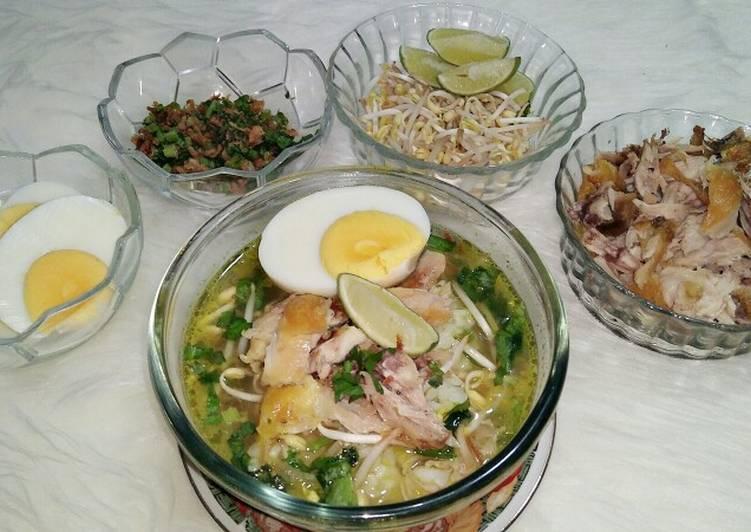 Resep Soto Kudus / Soto Ayam Bening Yang Populer Lezat