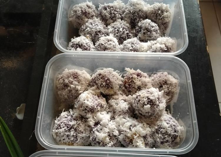 Klepon ubi ungu - cookandrecipe.com