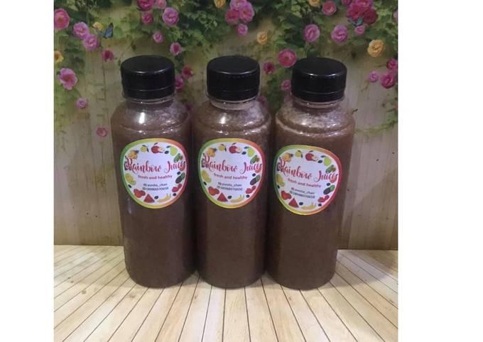 Diet Juice Pear Golden Kiwi Cherry Blackberry Carrot Collards