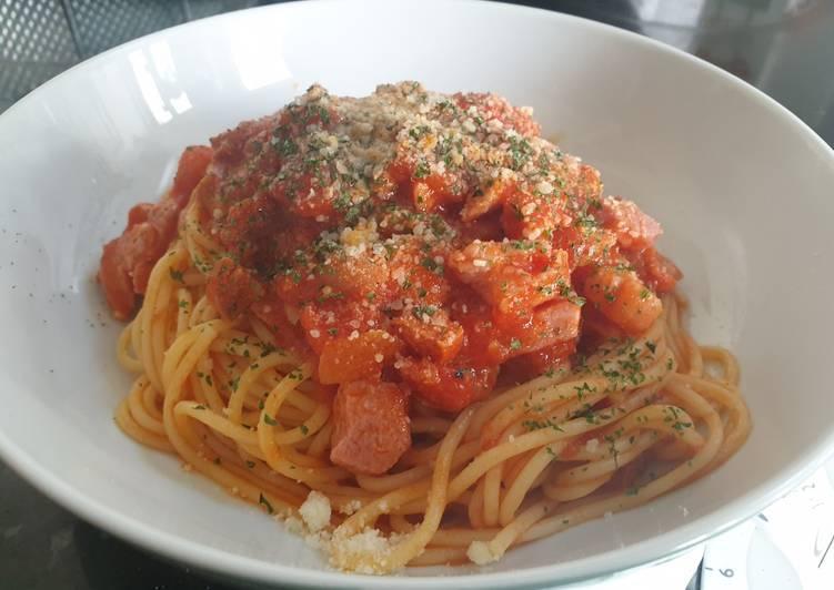 Tomato Pancetta pasta