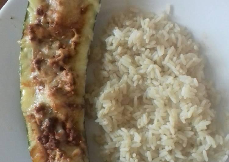 Comment Cuisiner Délicieux Riz et courgette farcis