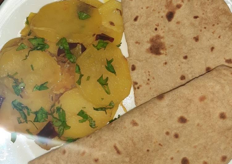 Quick potato veggie with chapati 😊(katli with roti) #mycookbook