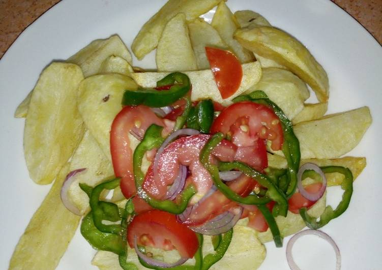 How to Make Yummy Deep fried potatoes #Authormarathon