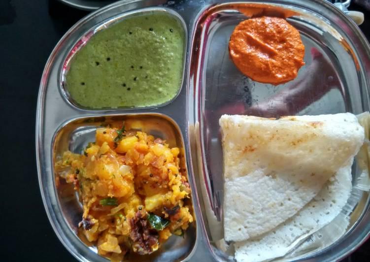 Red Chutney for Mysore Masala Dosa