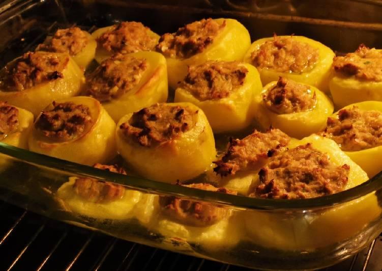Comment Servir Petites pommes de terre farcis au thon