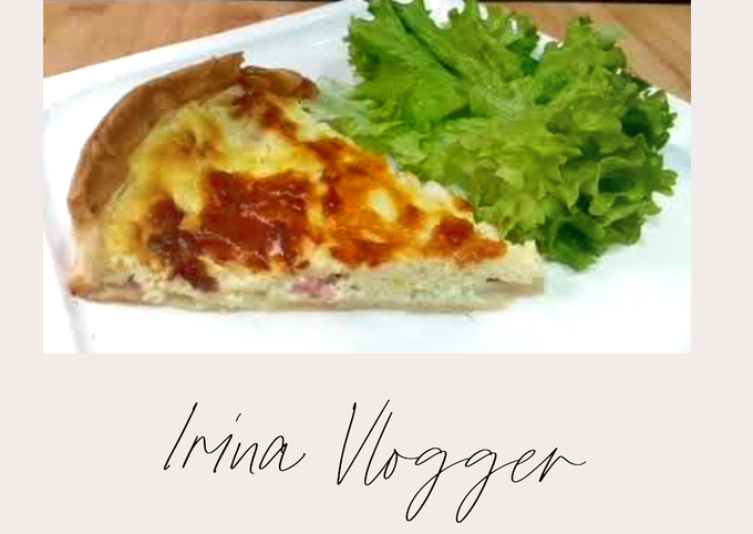 EASY BASIC RECIPE of simple and delicious homemade french quiche