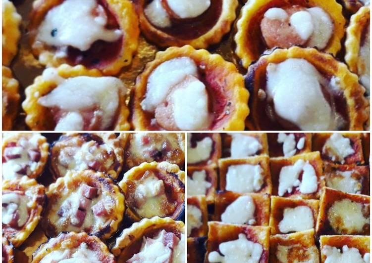Ricetta Pizzette dell'ultimo minuto con pasta sfoglia e base per pizza