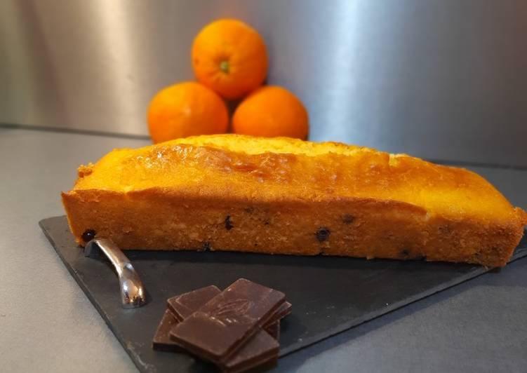 Cake à l'orange et aux pépites de chocolat 🍊🍫