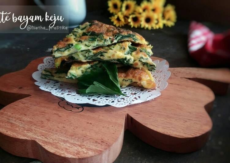 Omelette Bayam Keju