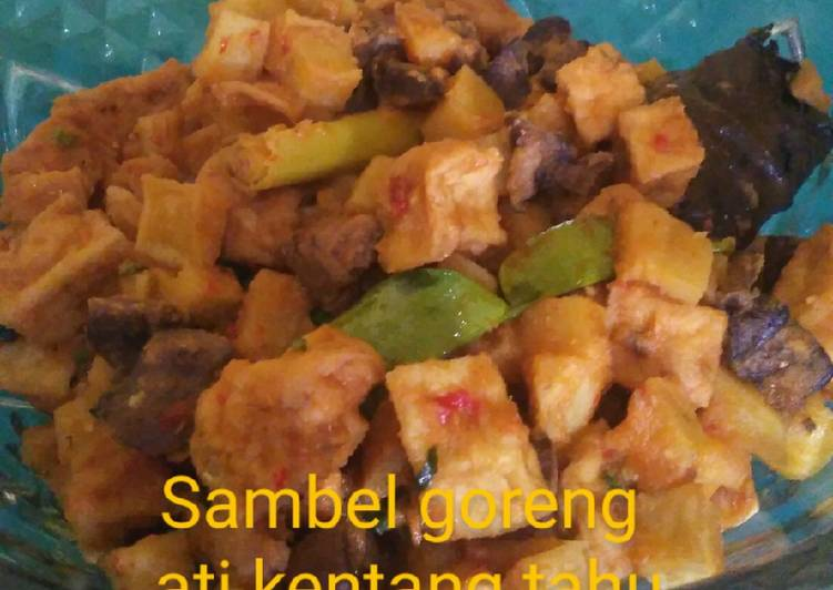 Resep Sambel goreng ati kentang tahu Anti Gagal