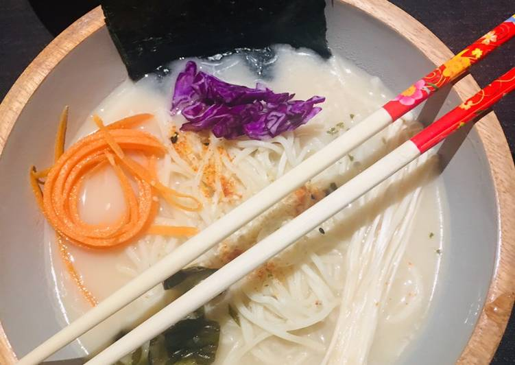 Step-by-Step Guide to Prepare Ultimate Vegan Ramen with soy milk and seasonal veg 🌱