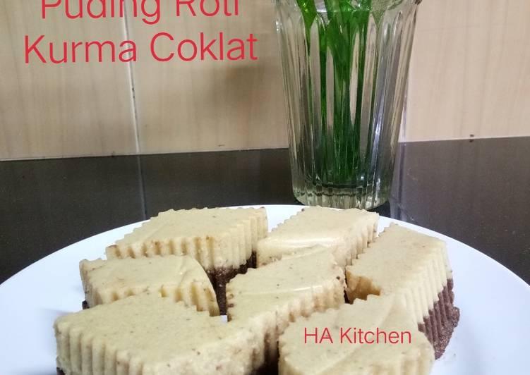 Resepi:  Puding Roti Kurma Coklat #Peraduan Resepi - Kurma Simple