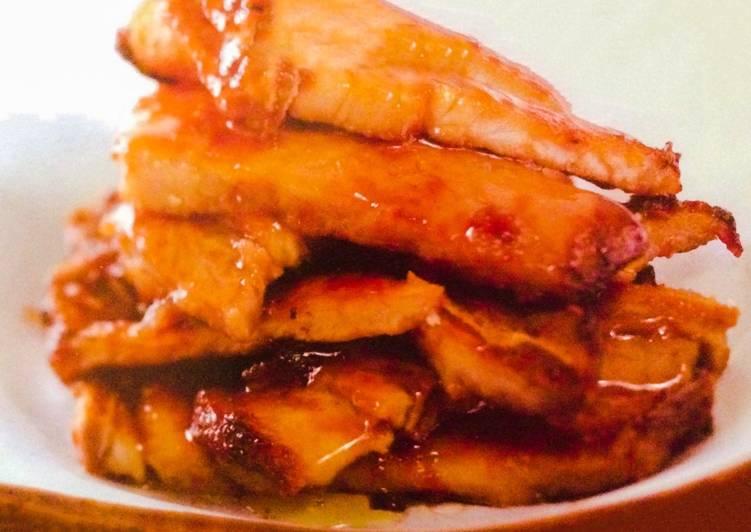 Pork chops in hoisin sauce