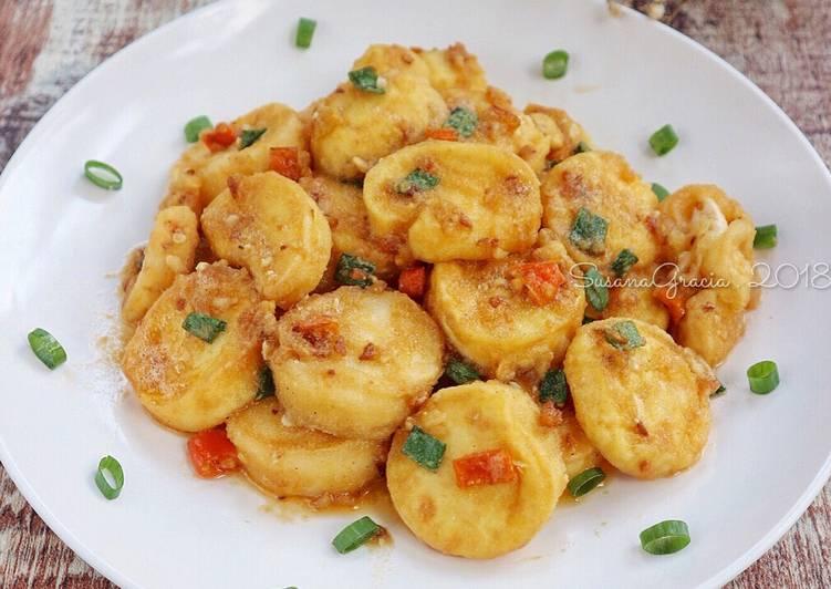 Resep Tofu With Salted Egg Recook Sukma Oleh Susana Gracia Cathrine Cookpad