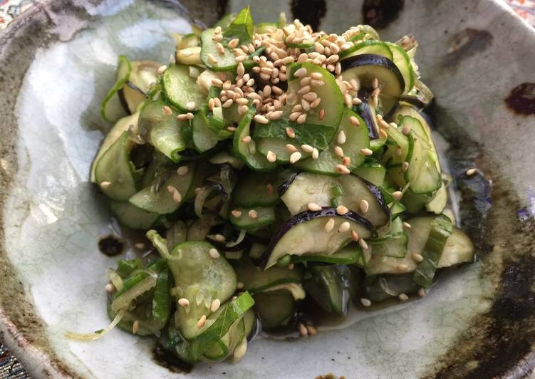 Recipe of Homemade Japanese cucumber and eggplant salad