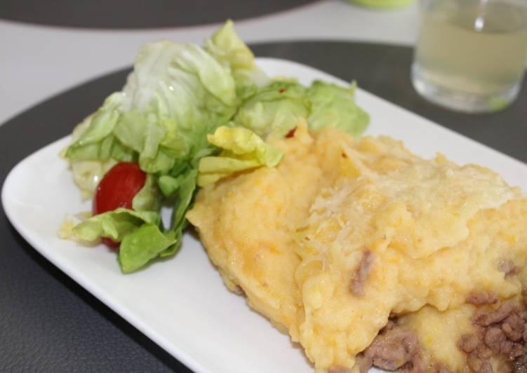 Recipe: Tasty Hachis parmentier et sa purée de Butternut