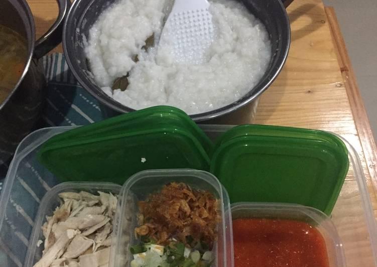 Resep Bubur Ayam Cheese Stick Ala Bubur Barito Oleh Desrina Arfiani Cookpad