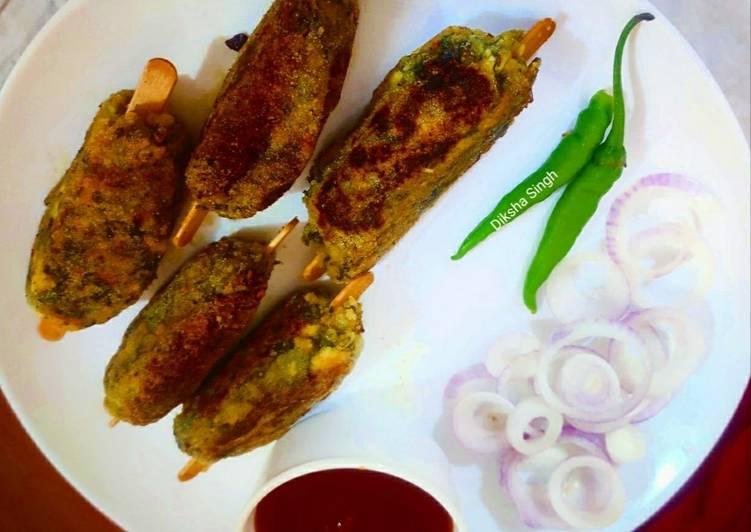 30 Minute Easiest Way to Prepare Cooking Palak Seekh Kabab