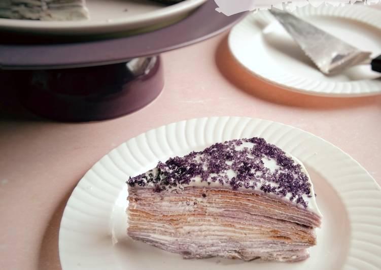 Taro Crepes Cake