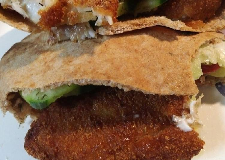 Recipe: Perfect Fish in a Pita