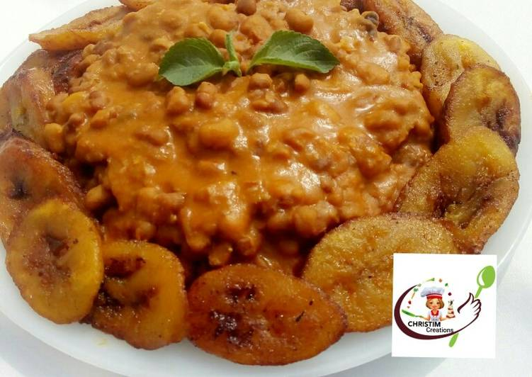 Honey beans with FRIED PLANTAIN