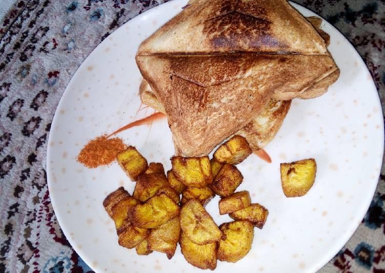 Toast bread/fried plantain