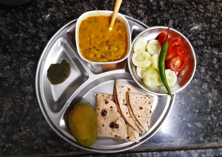 Quick Fix dinner Dal Roti