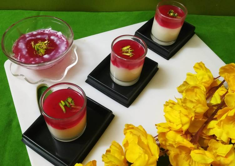 Recipe of Perfect Rose Pudding Without Gelatin / Agar Agar