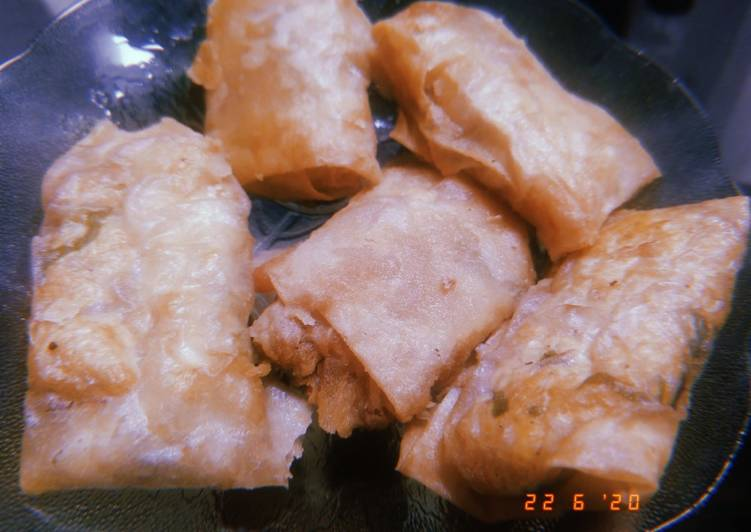 Martabak tahu simple