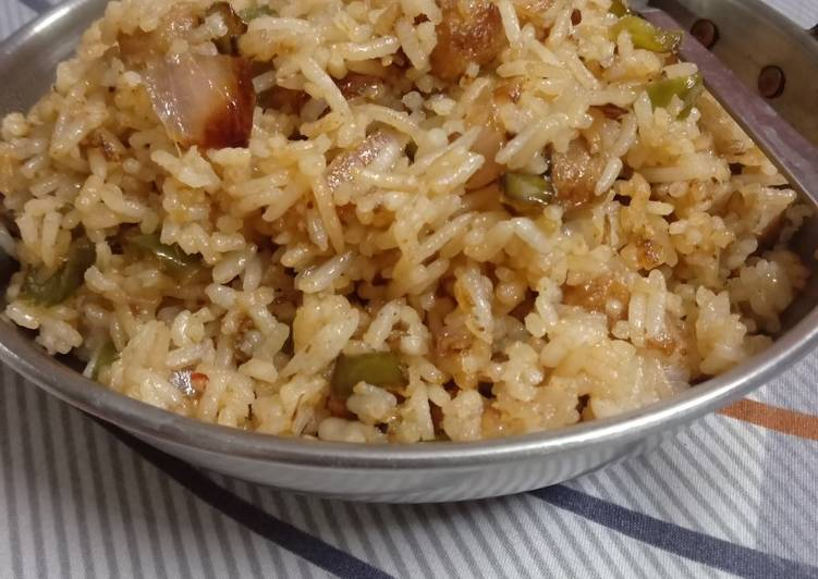 Recipe of Ultimate Chienese fried rice with soya chunks