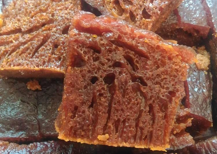 resep menyajikan Bolu caramel / sarang semut - Sajian Dapur Bunda